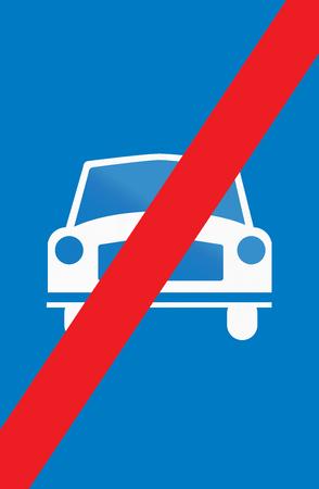 Cyprian regulatory road sign - End of main highway.