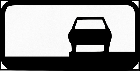 Estonian additional road sign - Directions for parking at the side of the road.