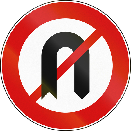 Road sign used in Malta - No U-Turn.