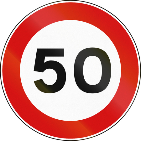 Road sign used in Malta - maximum speed limit.