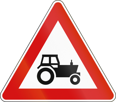 Warning Road sign used in Malta - Tractors.