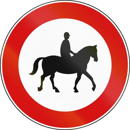 Road sign used in Malta - No equestrians.