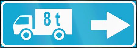 에스토니아로 정보 도로로 lorries에 대 한 경로입니다.