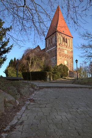 greifswald: Clinker church in Horst near Greifswald, Mecklenburg-Vorpommern, Germany.