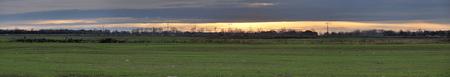 Panoramic view of field near Greifswald, Germany.