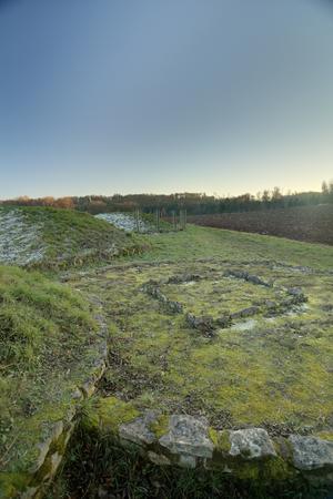 HDR of Tumulus and field near Landersdorf, Bavaria.