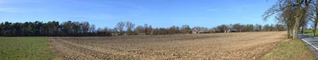 greifswald: Fields and farm in Strellin near Greifswald, Mecklenburg-Vorpommern, Germany.