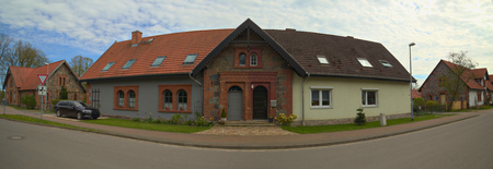 Semi detached house listed as monument in Germany.