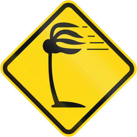 high winds: High winds warning sign used in Brazil.