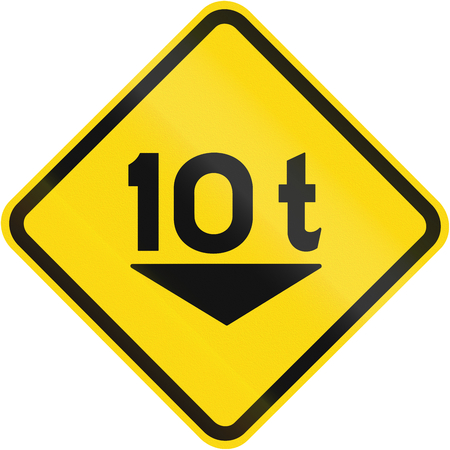 Maximum weight warning sign used in Brazil.