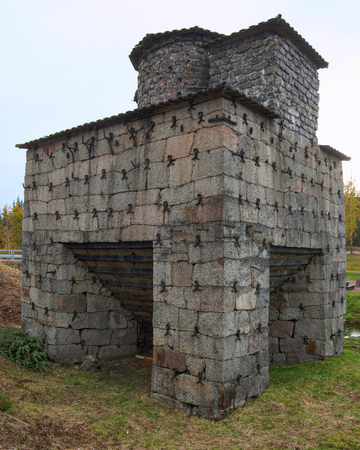 Historic Swedish blast furnace from the 19th century.