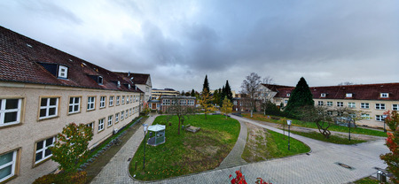 Courtyard of the institute for geography of Greifswald University.