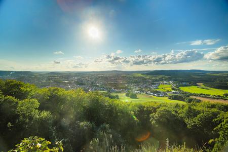 View from castle Wolfstein on Neumarkt in der Oberpfalz. Stock Photo
