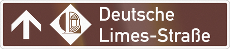 German road sign about the German Limes Road.