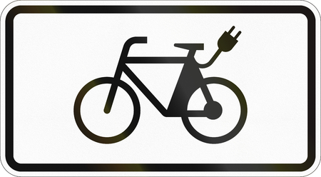 Supplementary road sign used in Germany - E-bikes.