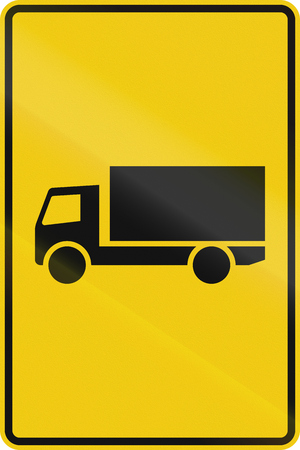 German indication sign for a truck route.