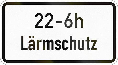 Supplementary road sign used in Germany - Noise prevention.