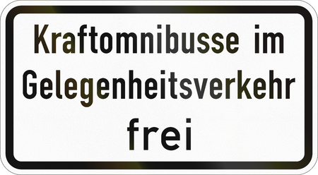 Supplementary road sign used in Germany - On-demand buses allowed.