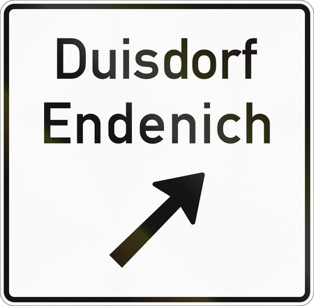 German information road sign - Exit of non-highway road.