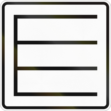Supplementary road sign used in Germany - Parking position.
