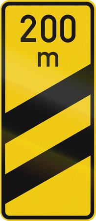 German distance marker for a highway exit. 版權商用圖片