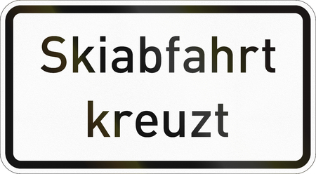 Supplementary road sign used in Germany - Ski crossing.