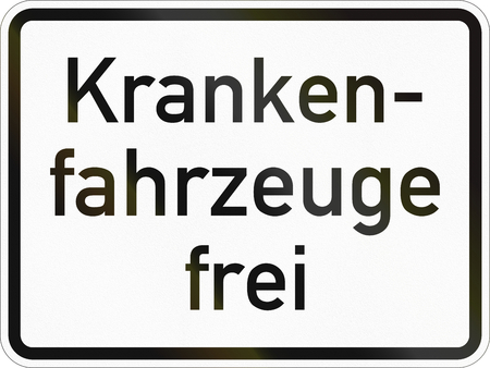 Supplementary road sign used in Germany - Ambulance allowed.