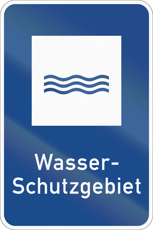 German information road sign - Water protection area.