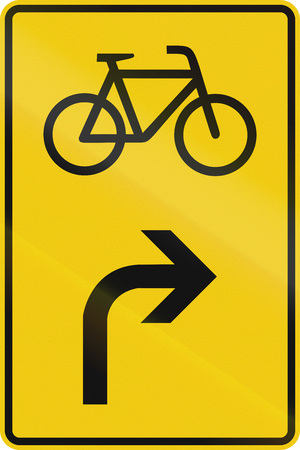 German direction sign for route for cyclists. Stock Photo