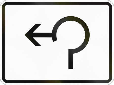 German supplementary road sign - Exit from roundabout.