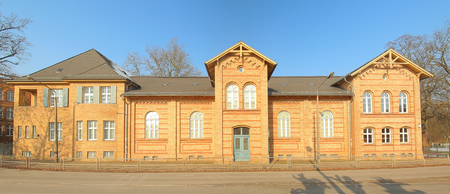 Part of the historic Jahn-Gymnasium, listed as monument in Greifswald. Фото со стока