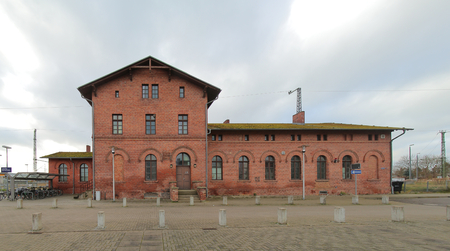 Historical train station, listed as monument in Zuessow, Germany.