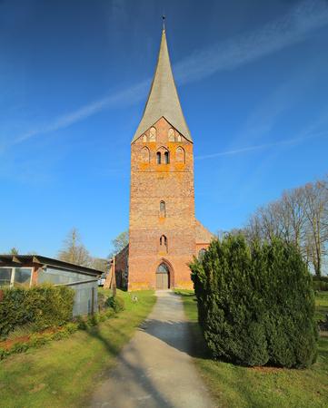 Church in Wusterhusen in Mecklenburg-West Pomerania, Germany.