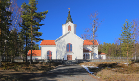 Osterjorn Church near Jorn in Vasterbotten, Sweden.
