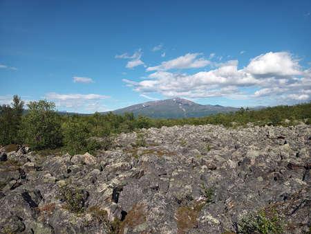 Accumulation of rocks in Stordalen nature reserve in northern Sweden.
