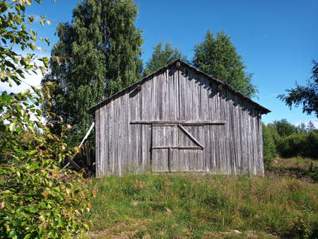 Old barn in Vasterbottens Lan in Sweden. Stock Photo