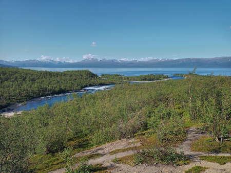 Stream Abiskojakk near Abisko in Norrbotten, Sweden.