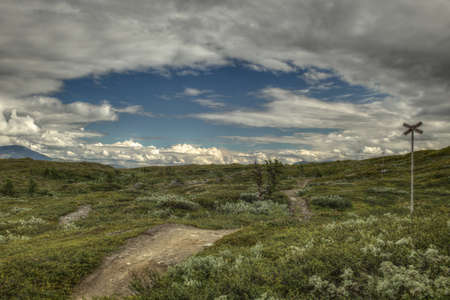 A hole in the cloud cover is opening in Lapland.