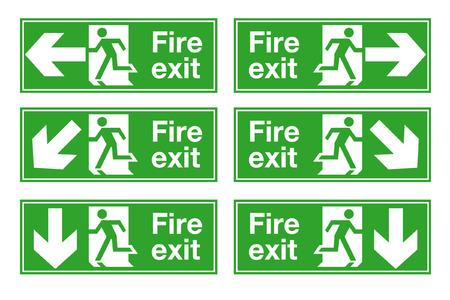 salida de emergencia: salida de fuego  Vectores