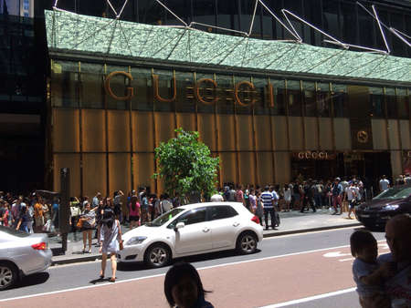 gucci: Boxing Day Gucci shop George Street Sydney New South Wales australia