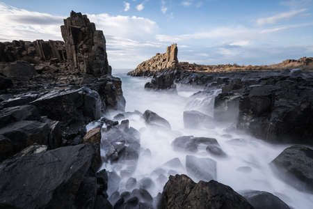 kiama: Bombo Headland waterfall in Kiama, Australia
