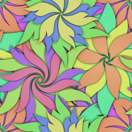 Seamless texture with flowers pattern, 3d illustration