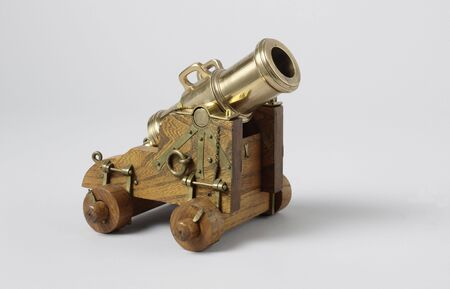 Model of a 16-Pounder Stone Howitzer on a Ship's Carriage, 19th century arms