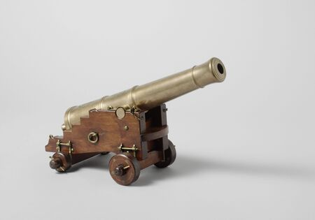 Model of a 12-Pounder Gun on a Carriage, 19th century arms