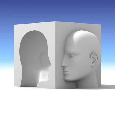 sense of space: Two Opposite Face