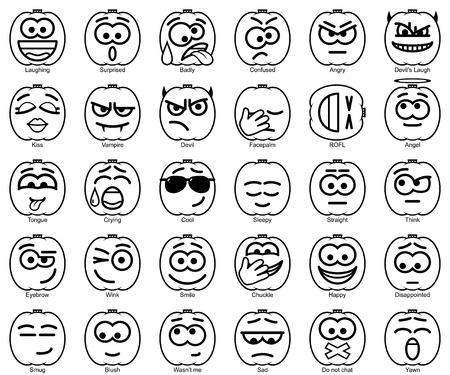 smileys: Set Vector Halloween Smileys