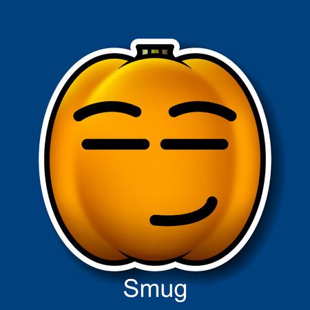 smug: Vector Halloween Smiley Smug Illustration