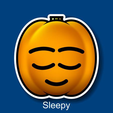 sleepy: Vector Halloween Smiley Sleepy Illustration