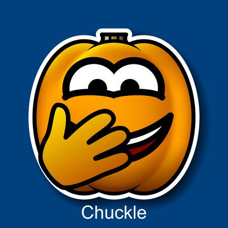 chuckle: Vector Halloween Smiley Chuckle