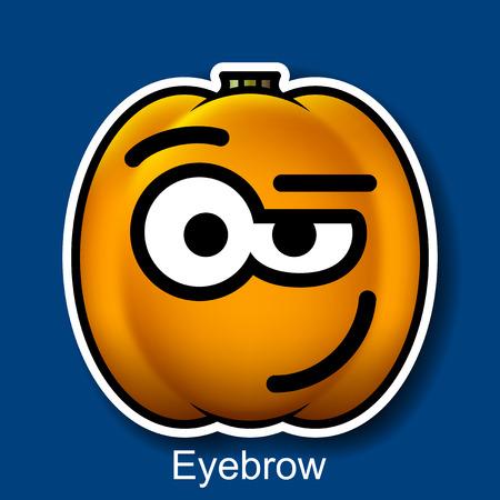eyebrow: Vector Halloween Smiley Eyebrow Illustration
